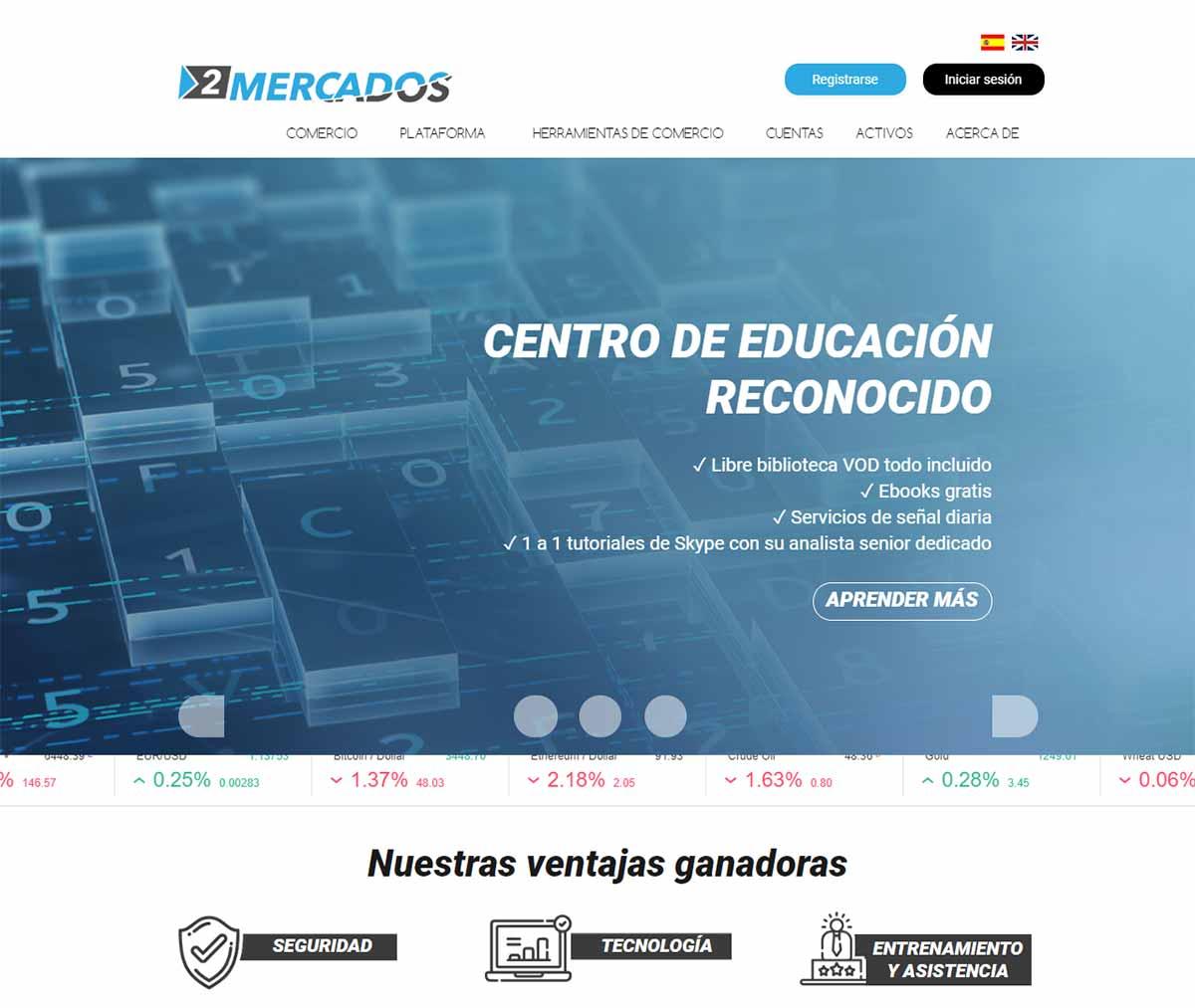 Página web de 2mercados