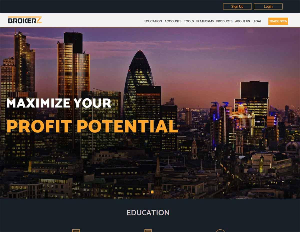 Página web de Brokerz.com