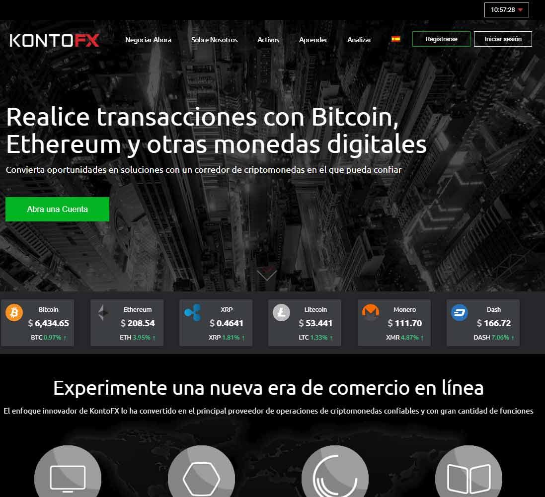 Página web de KontoFX