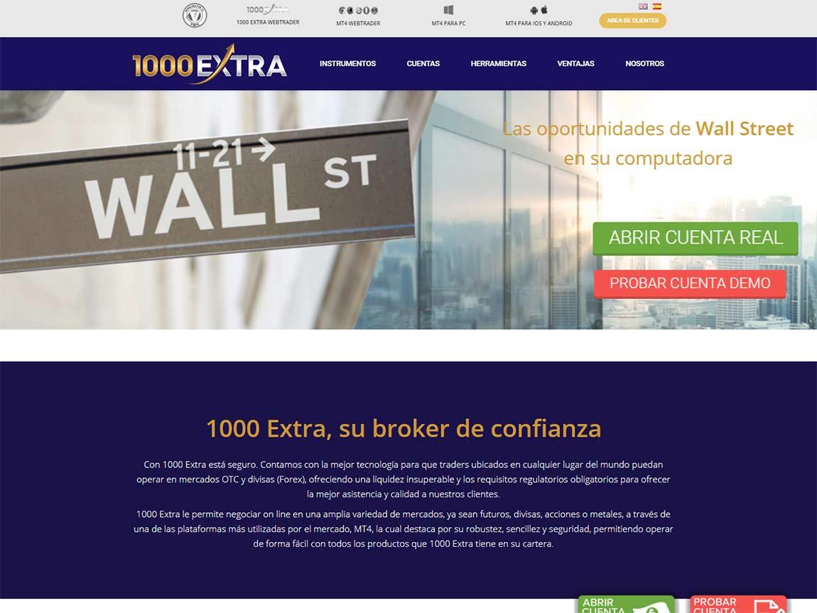 Página web de 1000extra