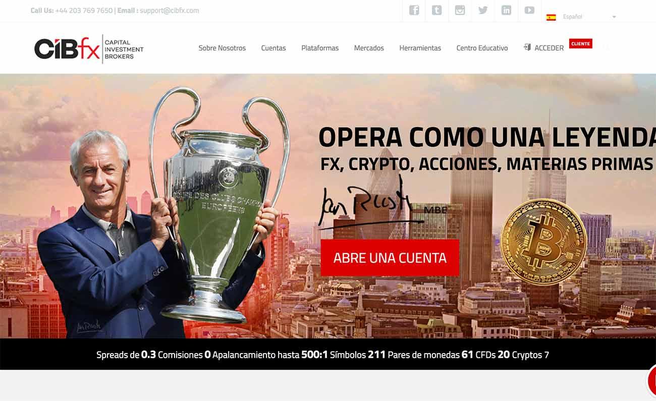 Página web de CIBfx