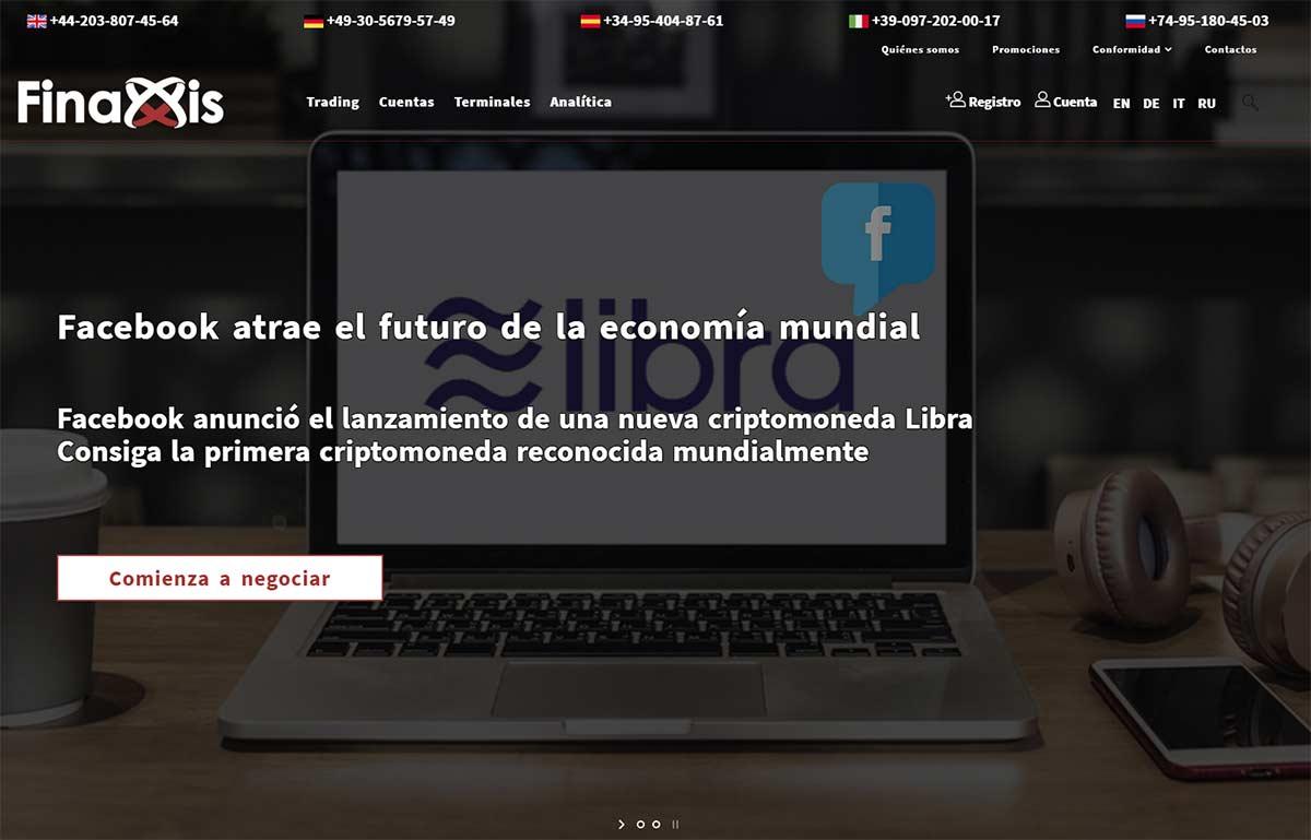 Página web de Finaxis