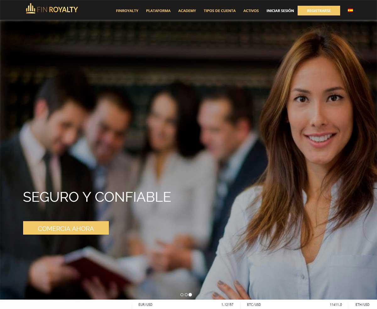 Página web de Finroyalty