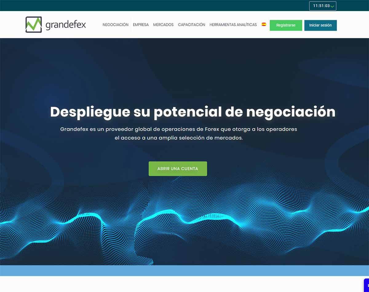 Página web de Grandefex