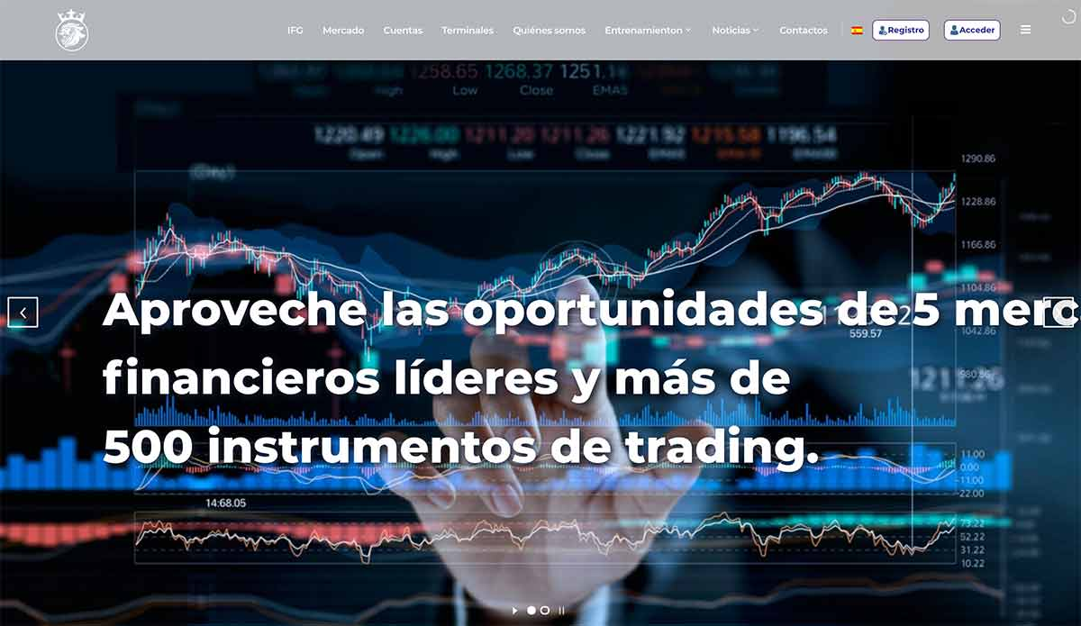 Página web de Imperial Finance Group