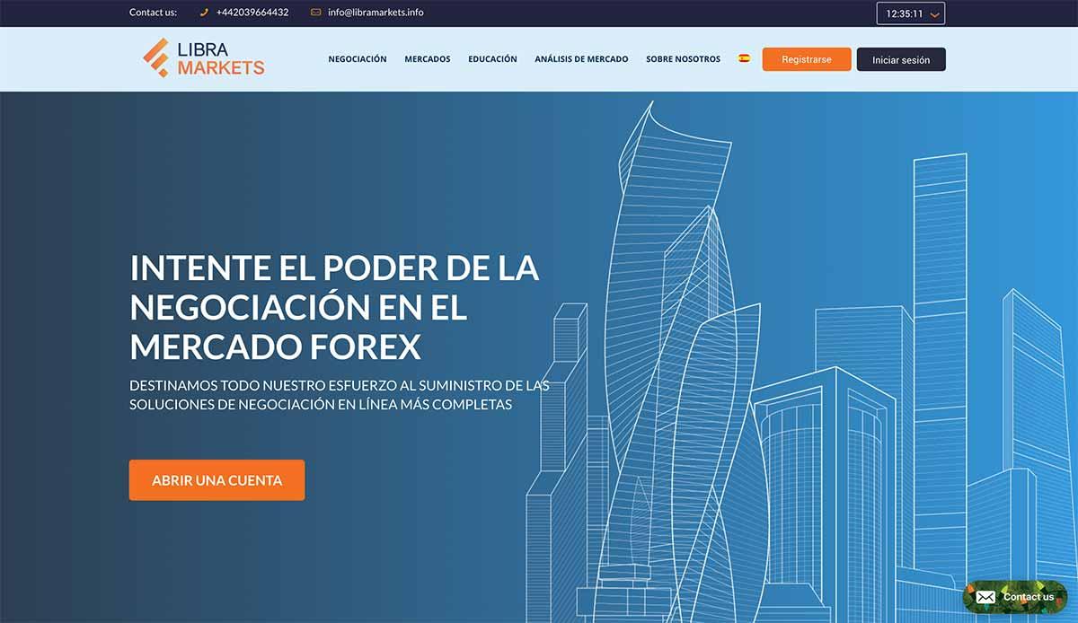 Página web de LIBRA MARKETS