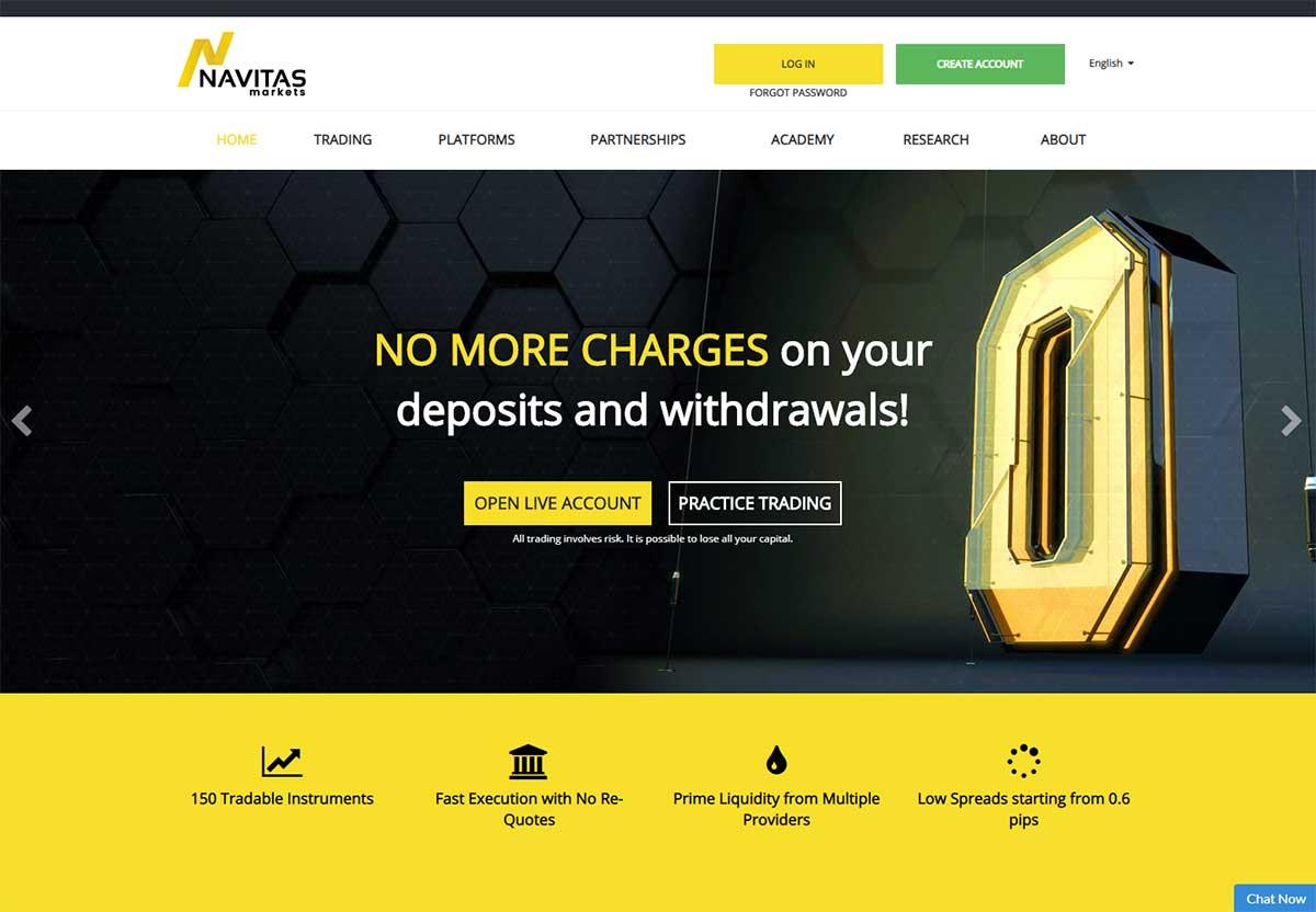 Página web de Navitas Markets