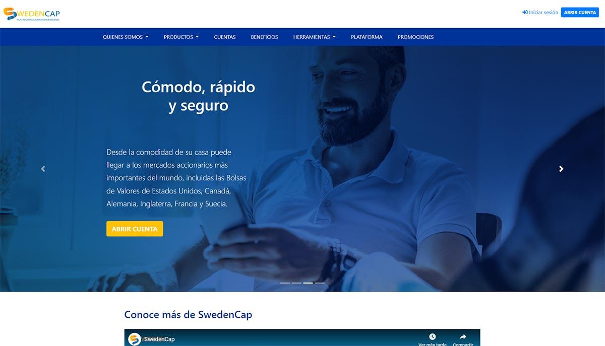 Página web de SwedenCap