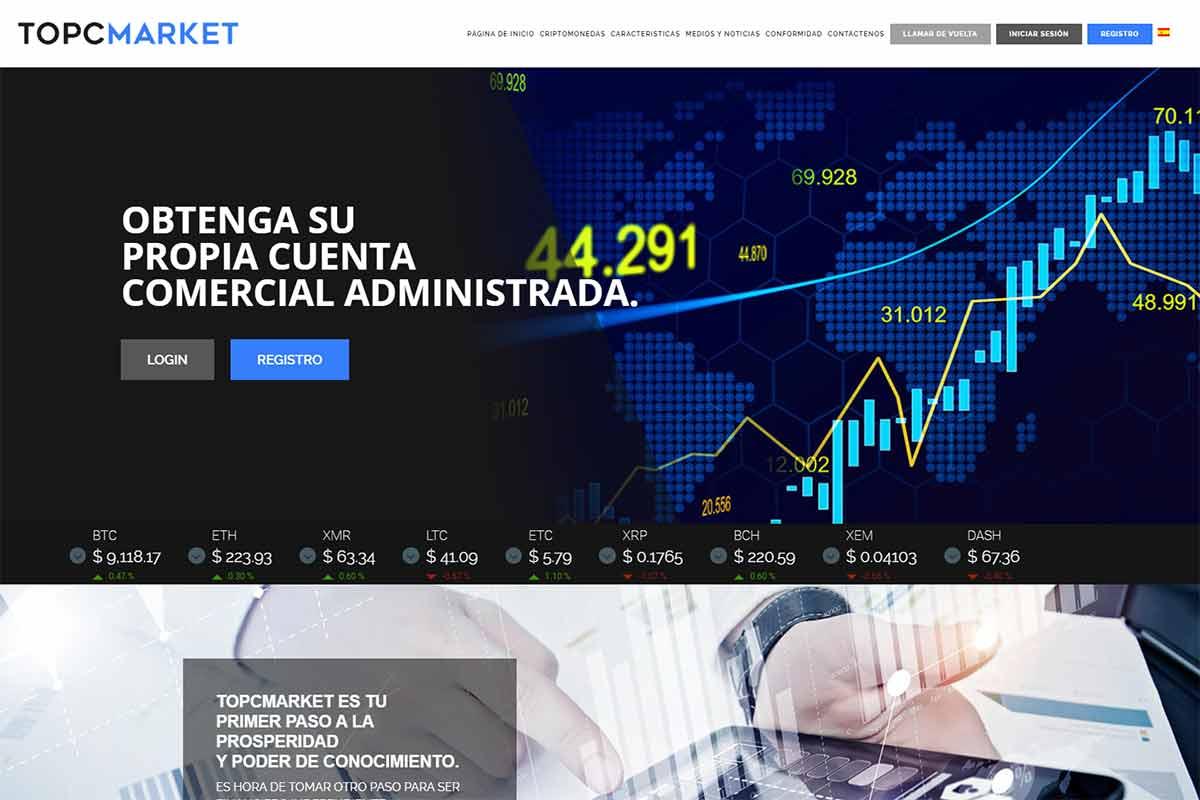 Página web de Topcmarket