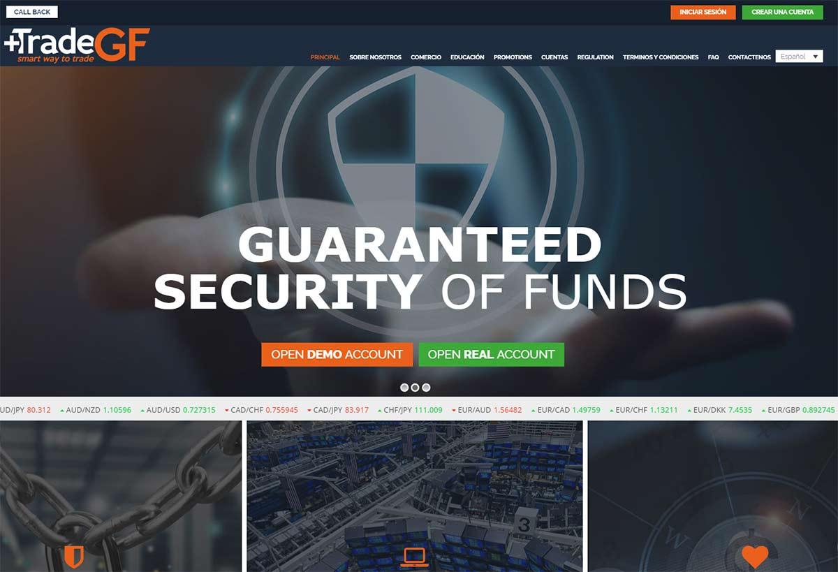Página web de Trade GF