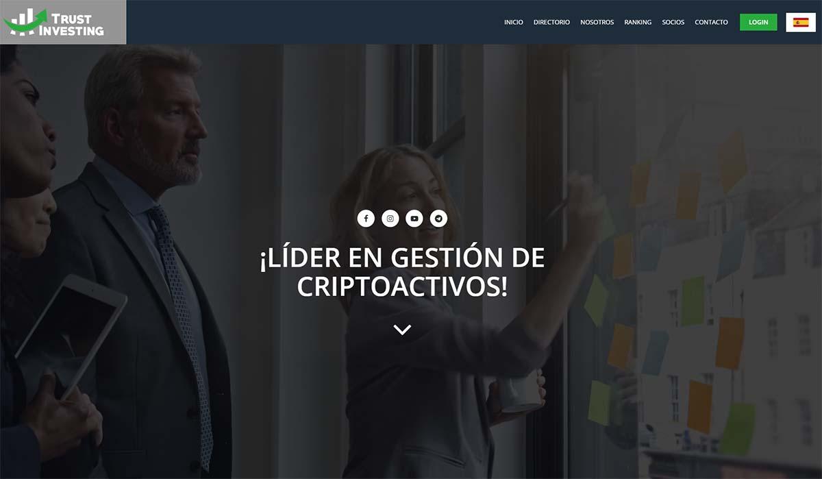 Página web de Trust Investing
