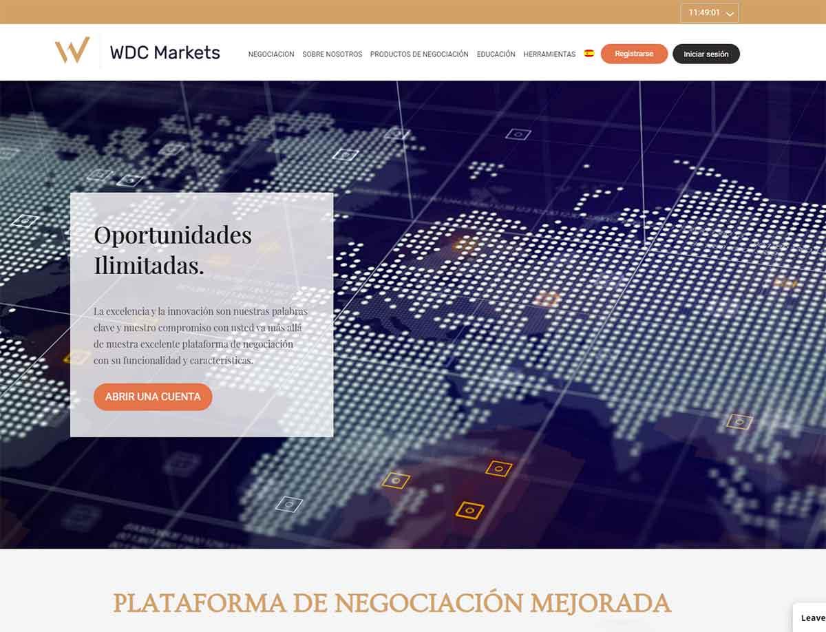 Página web de WDC Markets