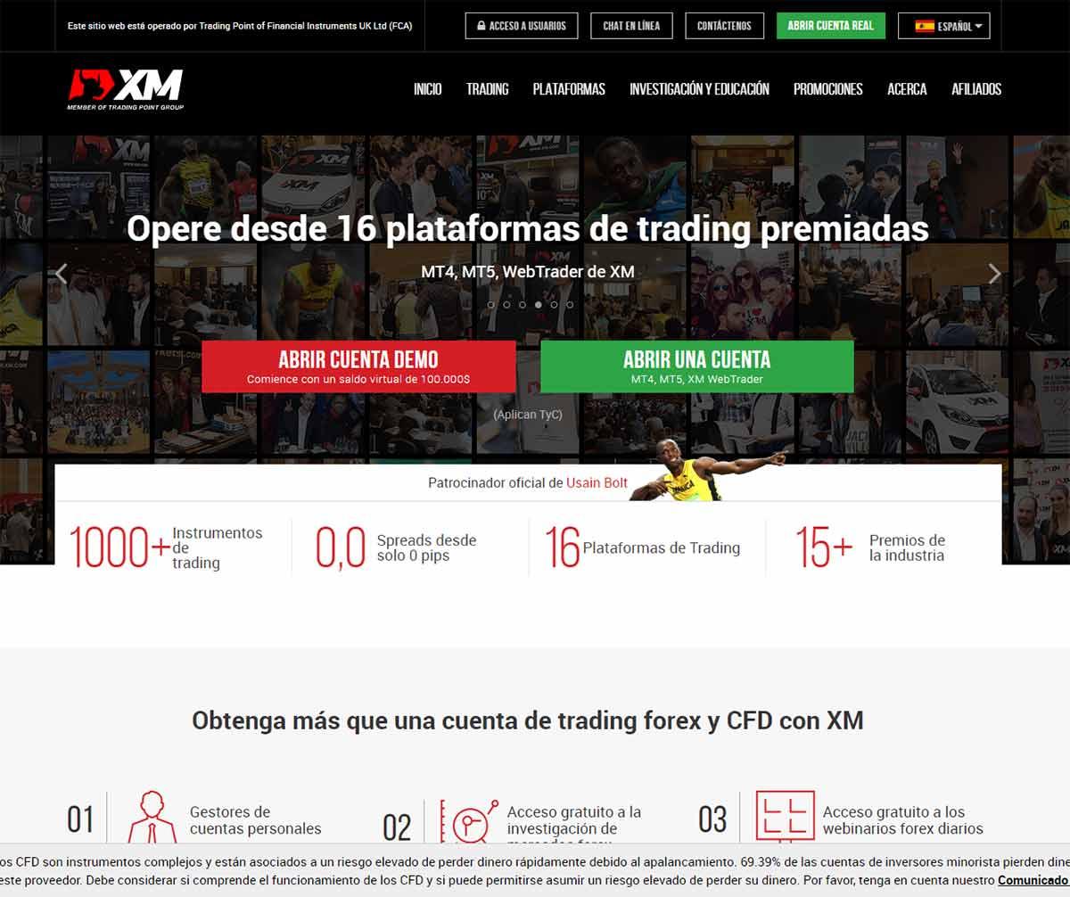 Página web de XM