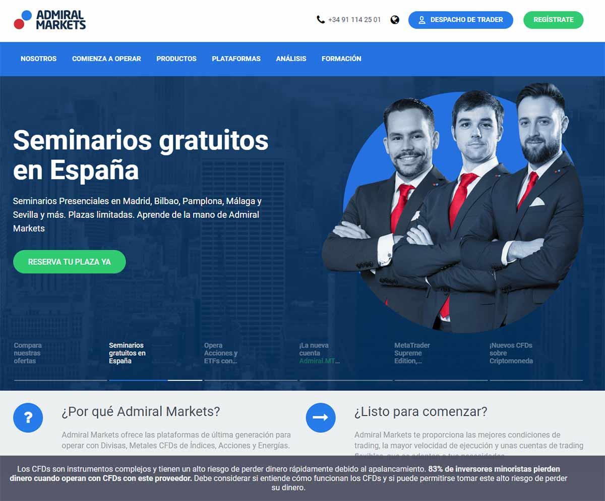 Página web de Admiral Markets