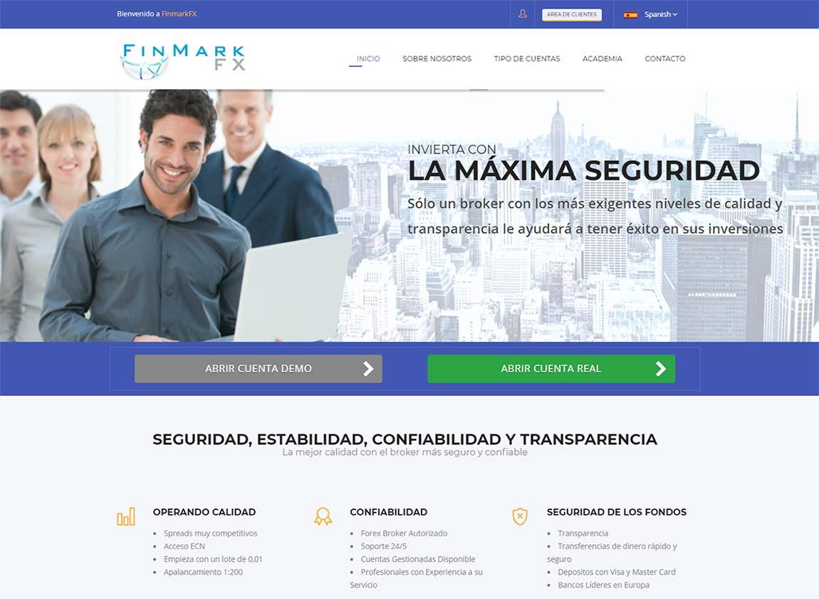 Página web de FinmarkFX