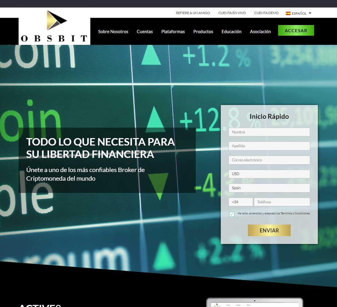 Página web de Obsbit
