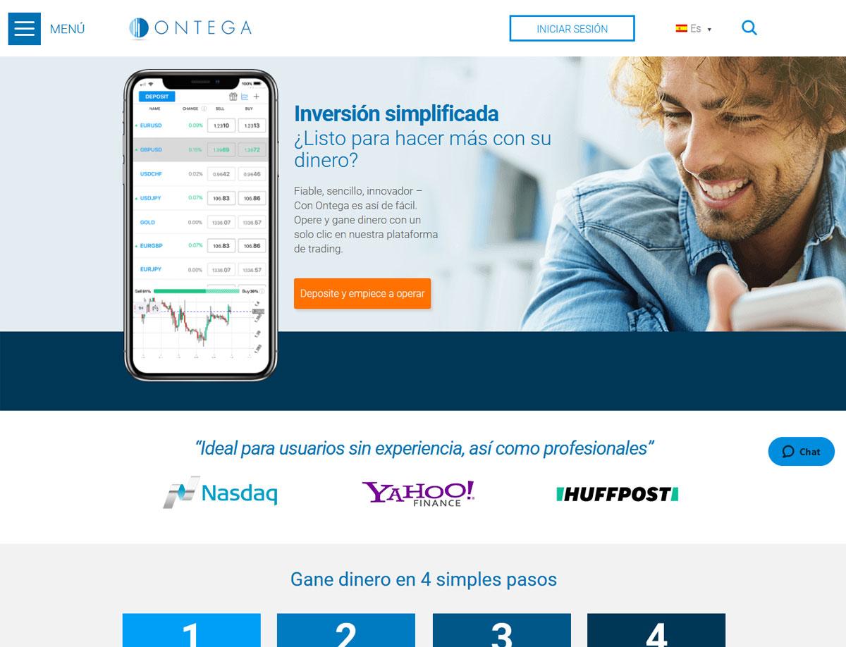 Página web de Ontega