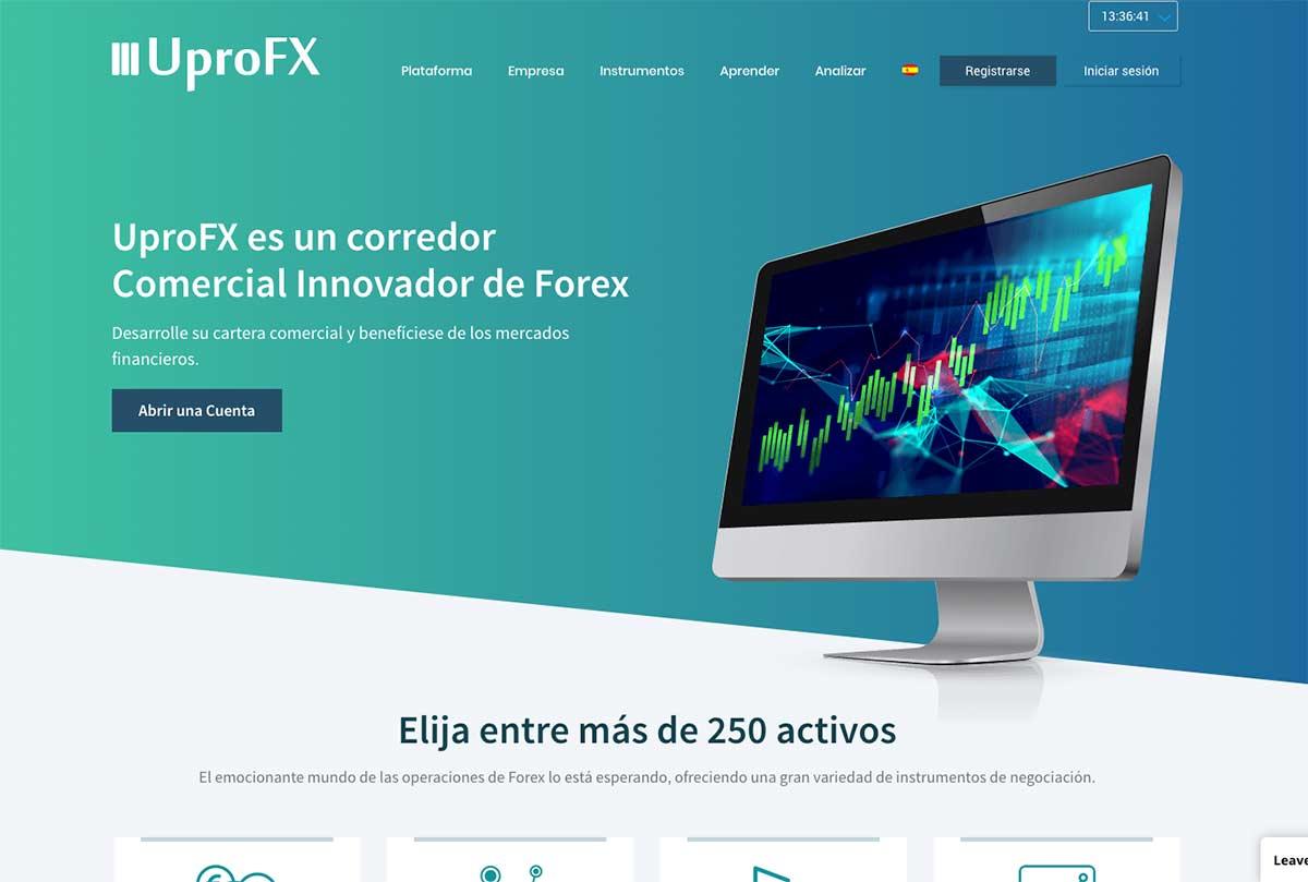 Página web de UproFX